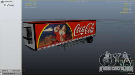 Coca Cola Truck v1.1 для GTA 5 вид сзади справа