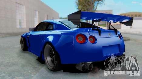 Nissan GT-R R35 Rocket Bunny для GTA San Andreas вид слева