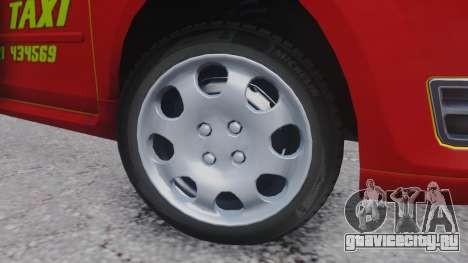 Ford Focus ST Taxi для GTA San Andreas вид сзади