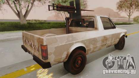 Volkswagen Caddy Military Vehicle для GTA San Andreas вид слева