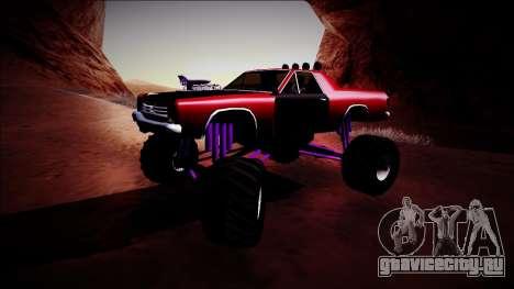 Picador Monster Truck для GTA San Andreas вид слева
