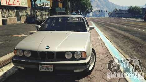 BMW 535i E34 для GTA 5 вид сзади справа