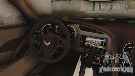 Chevrolet Corvette Stingray C7 2014 Sticker Bomb для GTA San Andreas вид справа