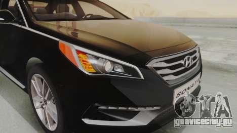 Hyundai Sonata Turbo 2.0 2015 V1.0 Final для GTA San Andreas вид изнутри