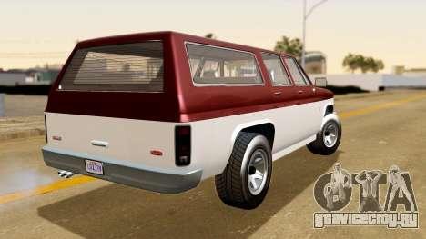 GTA 5 Declasse Rancher XL IVF для GTA San Andreas вид слева
