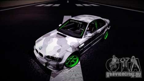 BMW M3 E46 Drift Monster Energy для GTA San Andreas вид сзади