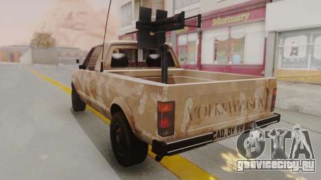 Volkswagen Caddy Military Vehicle для GTA San Andreas вид сзади слева