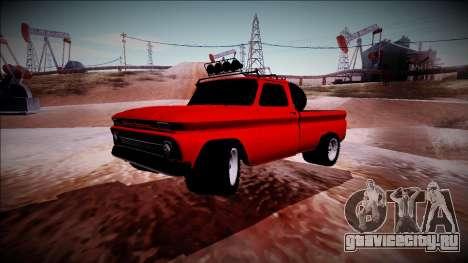 Chevrolet C10 Rusty Rebel для GTA San Andreas вид сзади