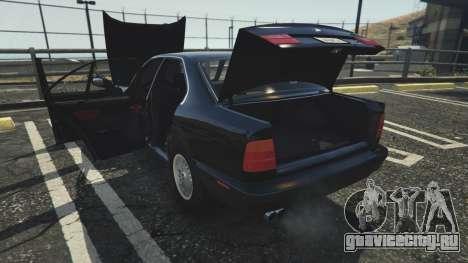 BMW 535i E34 для GTA 5 вид справа