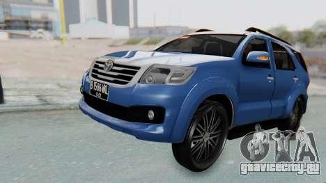 Toyota Fortuner TRD Sportivo Vossen для GTA San Andreas