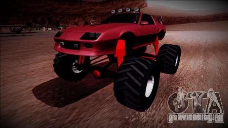 1990 Chevrolet Camaro IROC-Z Monster Truck для GTA San Andreas