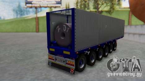 Trailer Colis Blue для GTA San Andreas вид слева