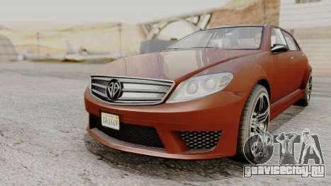 GTA 5 Benefactor Schafter LWB для GTA San Andreas