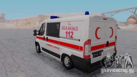 Fiat Ducato Turkish Ambulance для GTA San Andreas вид справа