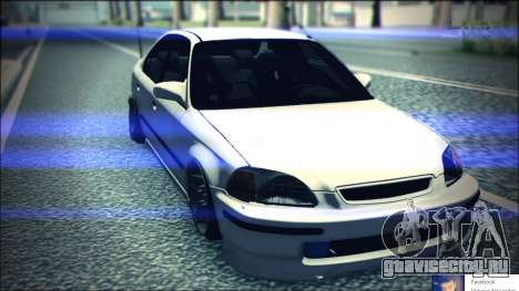 Honda Civic by Snebes для GTA San Andreas вид сзади