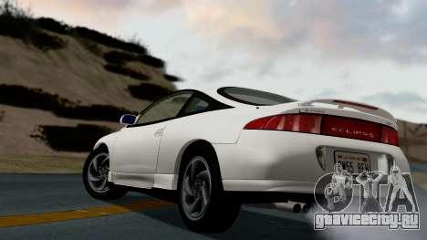 Mitsubishi Eclipse GST 1995 для GTA San Andreas вид сзади слева