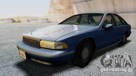 Chevrolet Caprice 1993 для GTA San Andreas вид сзади слева