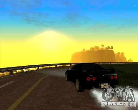 Nissan Skyline GT-R BNR32 Initial D Legend 2 N.K для GTA San Andreas вид изнутри