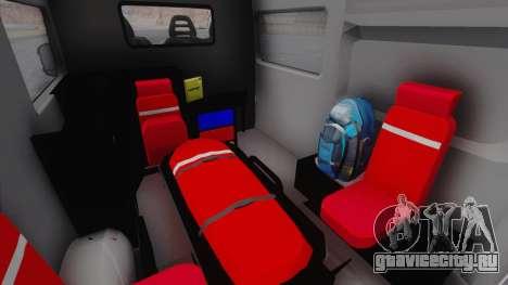 Fiat Ducato Turkish Ambulance для GTA San Andreas вид сзади