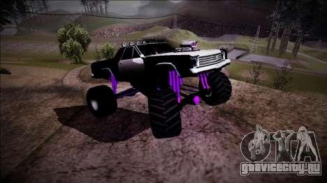 Picador Monster Truck для GTA San Andreas вид сверху