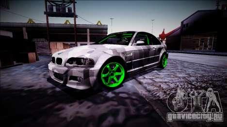 BMW M3 E46 Drift Monster Energy для GTA San Andreas вид изнутри