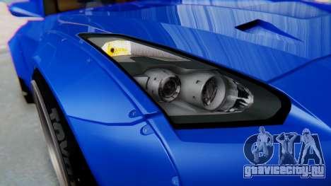 Nissan GT-R R35 Rocket Bunny для GTA San Andreas вид изнутри