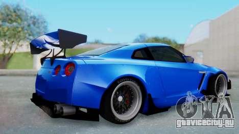 Nissan GT-R R35 Rocket Bunny для GTA San Andreas вид справа