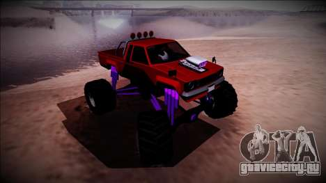 GTA 5 Karin Rebel Monster Truck для GTA San Andreas вид сбоку