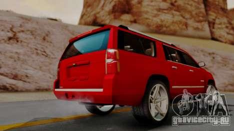 Chevrolet Suburban 2015 LTZ для GTA San Andreas вид слева