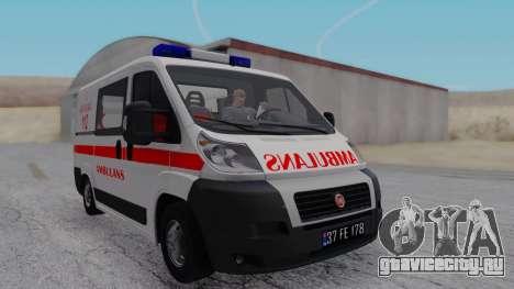 Fiat Ducato Turkish Ambulance для GTA San Andreas вид сзади слева
