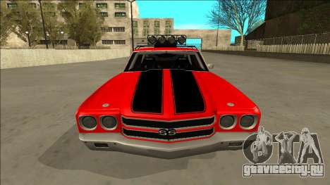 Chevrolet Chevelle Rusty Rebel для GTA San Andreas вид сверху