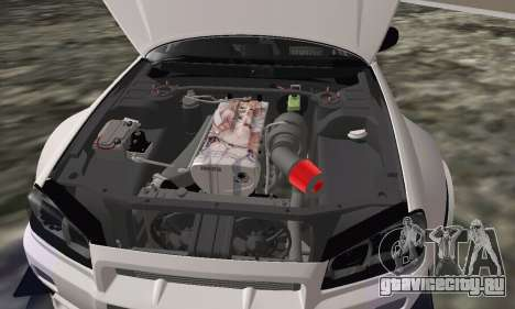Nissan Skyline R34 Pickup для GTA San Andreas вид справа
