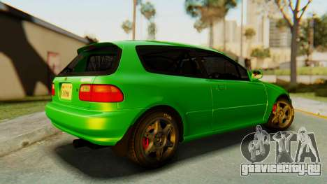 Honda Civic Vti 1994 V1.0 для GTA San Andreas вид слева