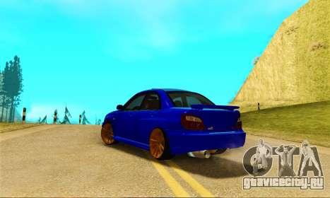 Subaru Impreza WRX STI Spec-C для GTA San Andreas вид сзади слева