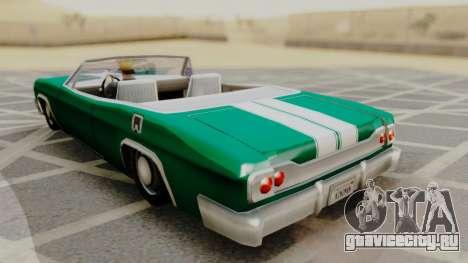 Blade F&F3 Mustang PJ для GTA San Andreas вид слева