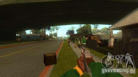 Вид от первого лица v3.0 для GTA San Andreas восьмой скриншот