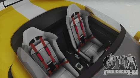 GTA 5 Bravado Banshee 900R Tuned для GTA San Andreas вид сзади