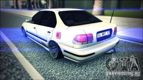 Honda Civic by Snebes для GTA San Andreas вид справа
