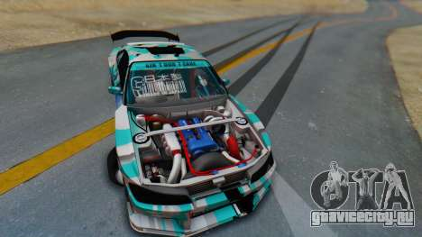 Nissan Silvia s15 Itasha [EDE-Crew] для GTA San Andreas вид изнутри