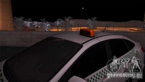 Ford Focus Такси Татарстан для GTA San Andreas вид сзади слева