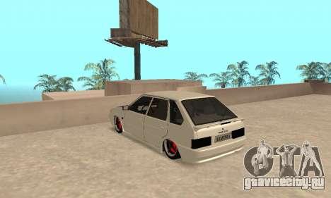 Vaz 2114 Armenian для GTA San Andreas вид сзади слева