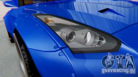 Nissan GT-R R35 Rocket Bunny для GTA San Andreas вид сбоку