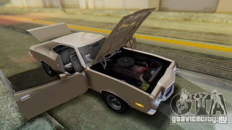 Ford Gran Torino Sport SportsRoof (63R) 1972 PJ2 для GTA San Andreas вид сзади
