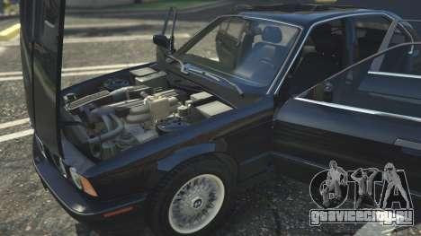 BMW 535i E34 для GTA 5 вид спереди справа