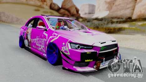 Mitsubishi Lancer Evolution X Hellaflush для GTA San Andreas