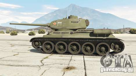 Т-34-85 для GTA 5 вид сзади справа