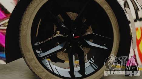 Chevrolet Corvette Stingray C7 2014 Sticker Bomb для GTA San Andreas вид сзади слева