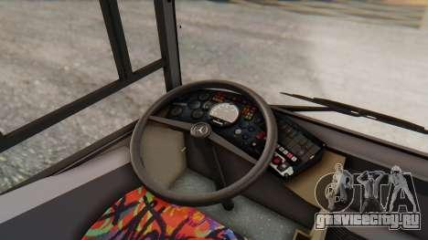 MAN NM 222 для GTA San Andreas вид изнутри