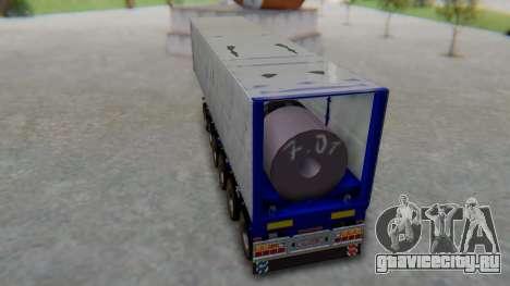 Trailer Colis Blue для GTA San Andreas вид сзади слева