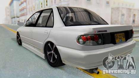 Mitsubishi Lancer для GTA San Andreas вид сзади слева